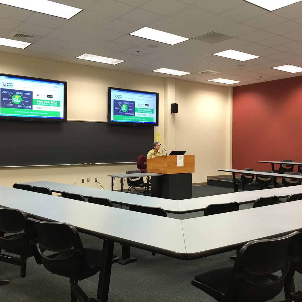classroom in greenville